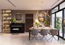 thiết kế nội thất phòng ăn căn hộ 3 phòng ngủ Vinhomes