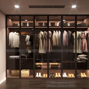 Thiết kế nội thất vinhomes central park tủ quần áo phòng master