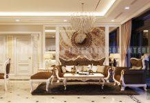 thiết kế nội thất phòng khách bán cổ điển vinhoems central park