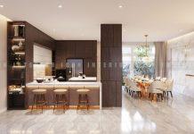 hiết kế nội thất phòng bếp biệt thự đẹp