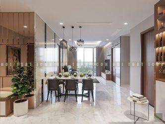 thiết kế nội thất phòng ăn căn hộ vinhomes central park