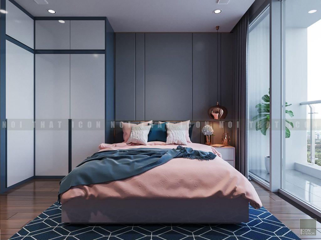 thiết kế nội thất phòng ngủ master căn hộ vinhomes central park