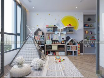thiết kế nội thất phòng bé căn hộ vinhomes central park