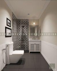 Thiết kế nội thất nhà vệ sinh căn hộ Vinhomes