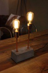 đèn nội thất gỗ óc chó