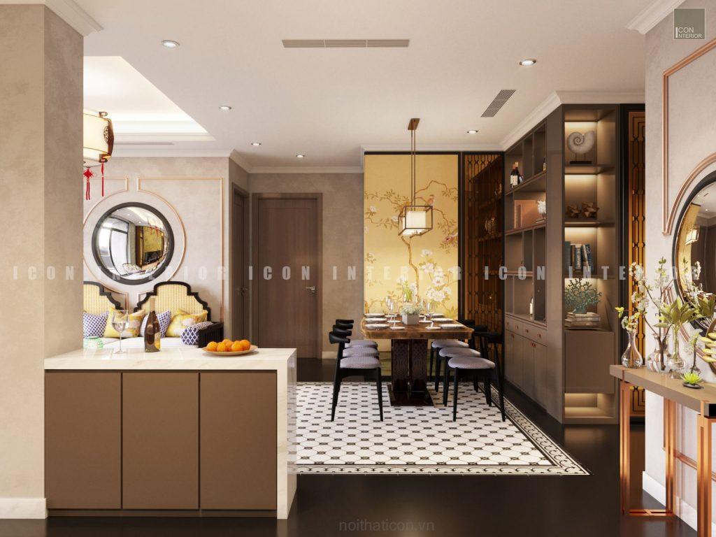 thiết kế nội thất căn bếp
