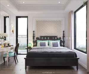 thiết kế nội thất gia đình phòng ngủ master