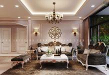 thiết kế nội thất phòng khách chung cư sang trọng