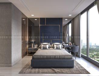 nội thất phòng ngủ master căn hộ vinhomes golden river