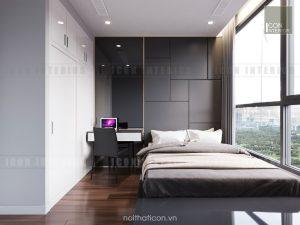 thiết kế phòng ngủ nhỏ vinhomes central park landmark 5