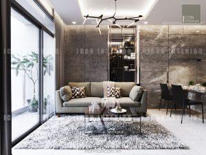 thiết kế phòng khách vinhomes central park landmark 5