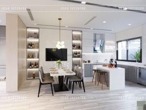 thiết kế biệt thự phố 3 tầng - phòng ăn