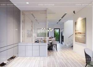 thiết kế biệt thự phố 3 tầng - tiền sảnh