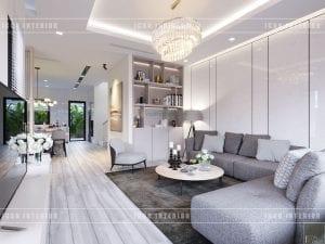 thiết kế biệt thự phố 3 tầng - phòng khách