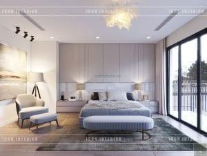thiết kế biệt thự phố 3 tầng - phòng master
