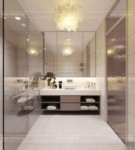 thiết kế biệt thự phố 3 tầng - phòng vệ sinh phòng ngủ master