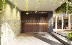 thiết kế nội thất biệt thự đẹp - cửa ra vào