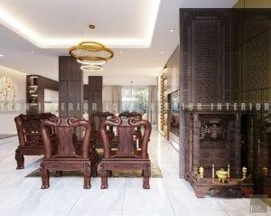 thiết kế nội thất biệt thự đẹp - phòng khách
