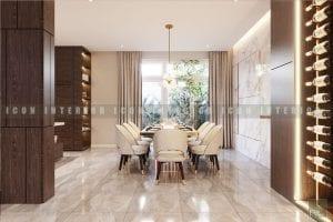 thiết kế nội thất biệt thự đẹp - phòng ăn