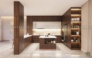 thiết kế nội thất biệt thự đẹp - nhà bếp