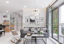 thiết kế nội thất phong cách hiện đại - phòng khách