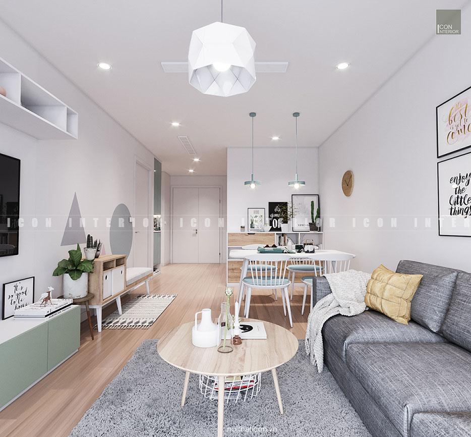 thiết kế nội thất phong cách bắc âu - phòng khách