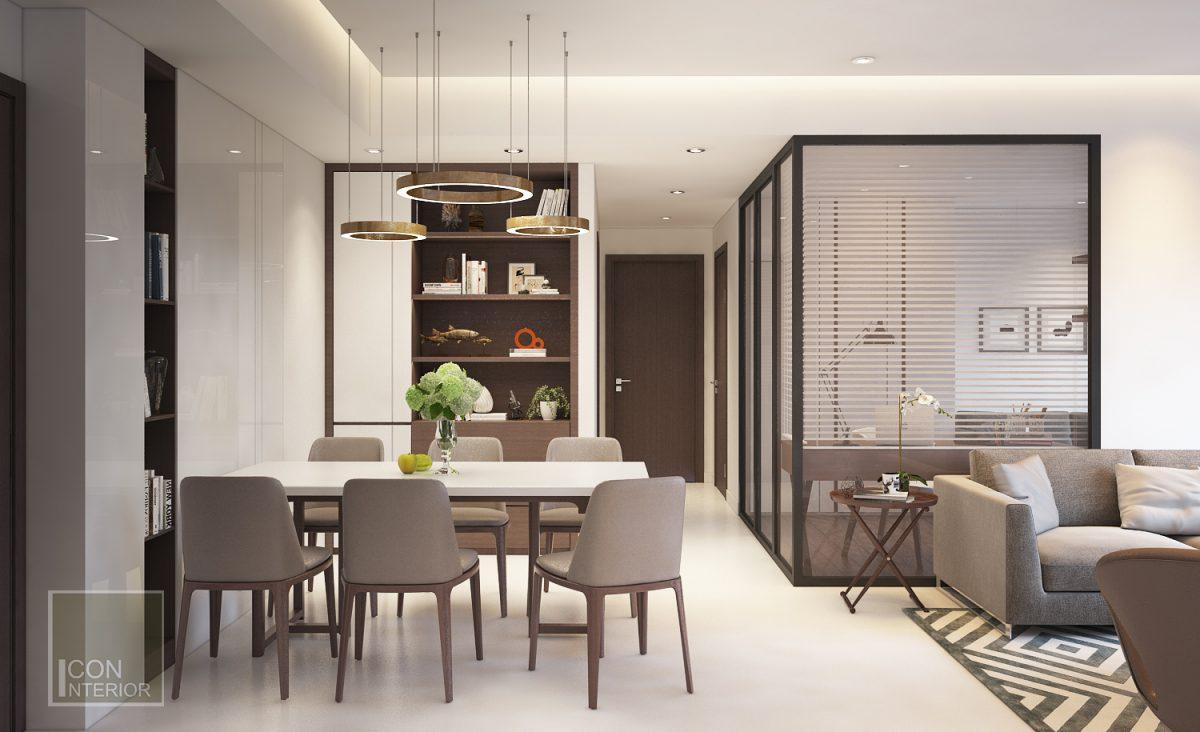 thiết kế nội thất căn hộ chung cư 45m2