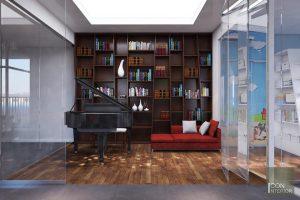 Thiết kế nội thất căn hộ Tropic Garden - phòng khách bếp 5