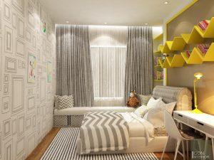 Thiết kế nội thất căn hộ Tropic Garden - phòng ngủ bé 2