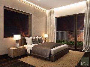 Thiết kế nội thất căn hộ Tropic Garden - phòng master