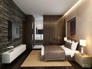 Thiết kế nội thất căn hộ Tropic Garden - phòng ngủ master