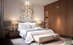 thiết kế nội thất phòng ngủ biệt thự