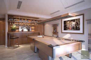 thiết kế nội thất biệt thự phòng giải trí