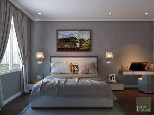 thiết kế nội thất phòng master biệt thự