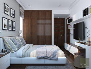 thiết kế nội thất phòng ngủ nhỏ biệt thự