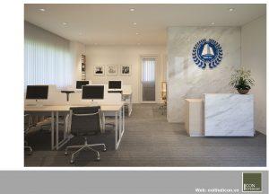 mẫu thiết kế văn phòng đẹp - sảnh lễ tân