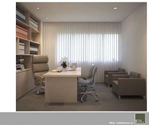 mẫu thiết kế văn phòng đẹp - phòng giám đốc