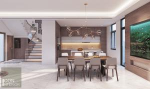 thiết kế nội thất biệt thự lucasta quận 9 - Phòng ăn 2
