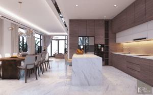 thiết kế nội thất biệt thự lucasta quận 9 - Phòng bếp 1