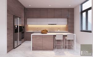 thiết kế nội thất biệt thự lucasta quận 9 - Phòng bếp