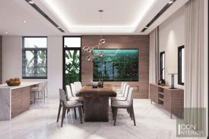 thiết kế nội thất biệt thự lucasta quận 9 - Phòng ăn