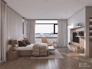 thiết kế nội thất biệt thự lucasta quận 9 - Phòng ngủ master 1