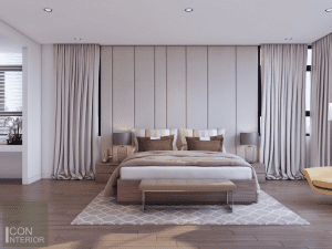 thiết kế nội thất biệt thự lucasta quận 9 - Phòng ngủ master 2