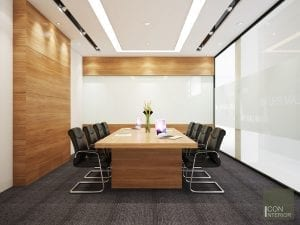 công ty thiết kế nội thất uy tín - phòng họp himlam