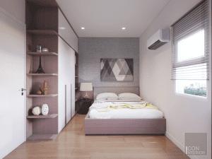 nội thất phòng ngủ nhỏ chung cư 3 phòng ngủ