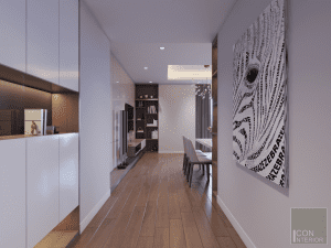 nội thất tiền sảnh chung cư 3 phòng ngủ