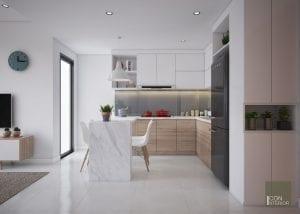 các kiểu nhà bếp đẹp tông trắng