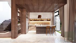 thiết kế nội thất biệt thự lucasta nhà bếp