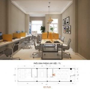 mẫu thiết kế văn phòng công ty phòng làm việc
