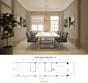 mẫu thiết kế văn phòng công ty phòng họp